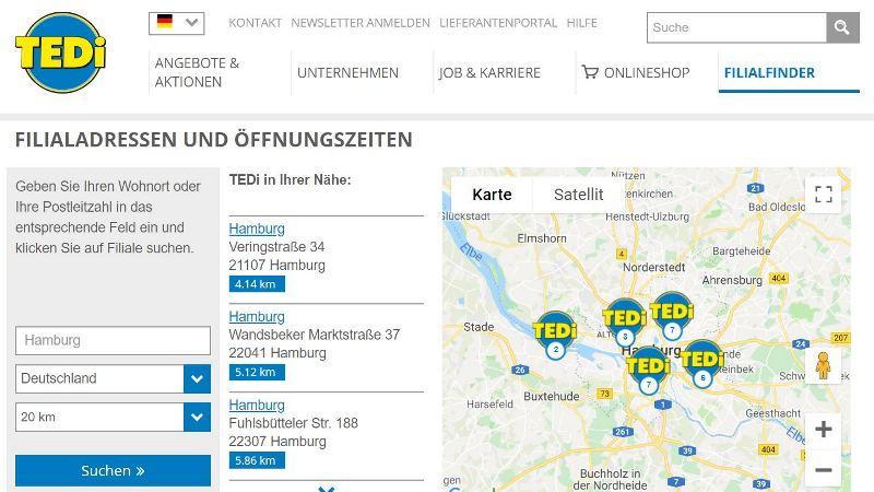 TEDI in Hamburg finden
