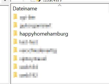Filezilla Ordner Verweis auf Website für WordPress - Happy Home Hamburg von Jessica