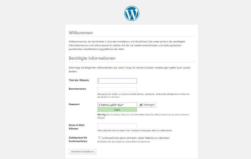 Wordpress ist fertig installiert - Happy Home Hamburg von Jessica