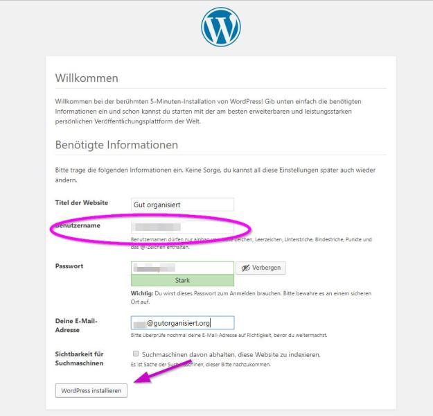 WordPress Zugang fertig einrichten Benutzer - Happy Home Hamburg von Jessica