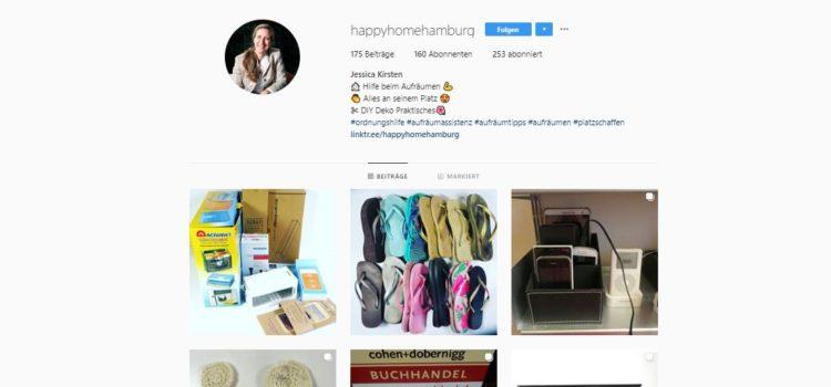 Auf Instagram weitere Aufräumtipps, Ordnungsfragen