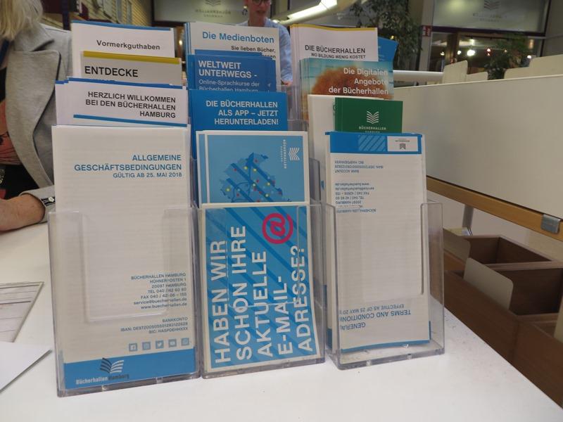 Unterlagen Informationen Bücherhallen