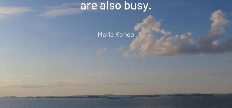 Marie Kondo Zitat